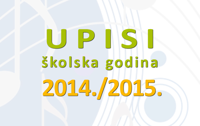 <big>U P I S I</big> &#8211; školska godina 2014./2015.
